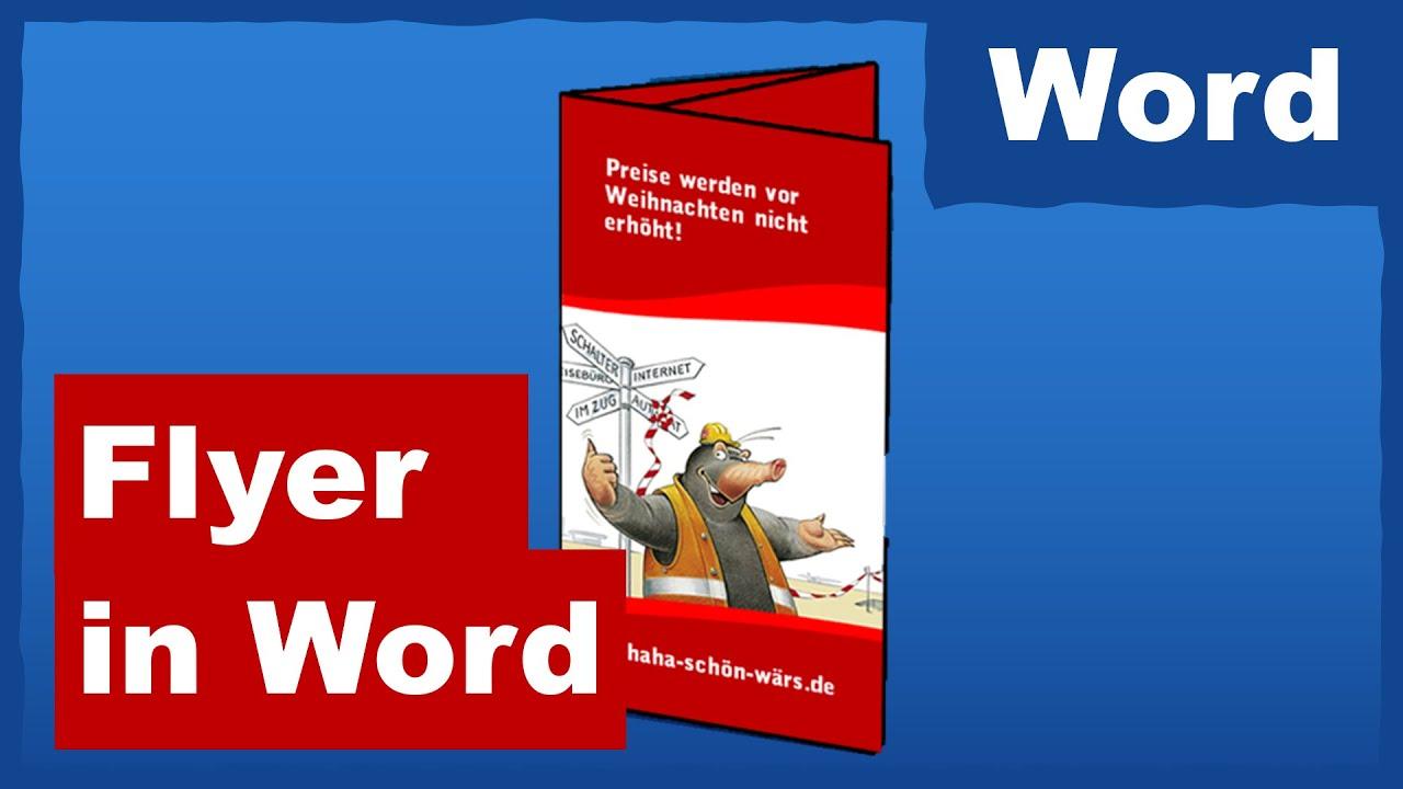 Bewerbungsflyer Vorlage Word Kebut